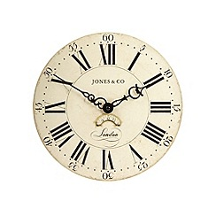 Jones - Cream 'Columbus' wall clock