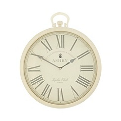 London Clock - Cream 'Ashby' wall hanging clock