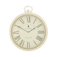 London Clock - Cream 'Ashby' wall hanging clock