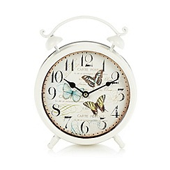 Heaven Sends - Cream vintage butterfly clock