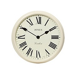 Jones - Giant metal cream 'Savoy' wall clock