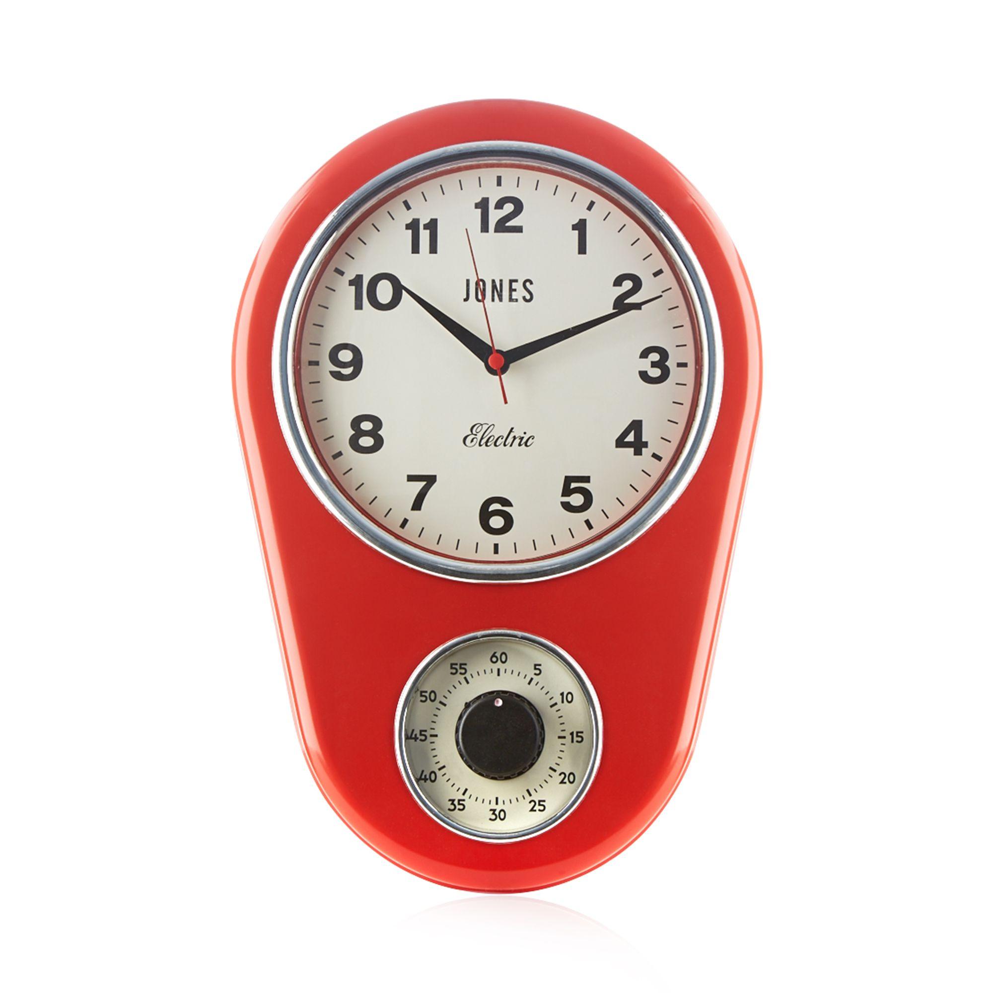 Jones Red Vintage Kitchen Timer Clock From Debenhams Ebay