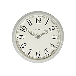 Jones - Small light grey 'Piccadilly' wall clock