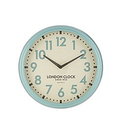 London Clock - Blue metal case 'Hendrix' wall clock