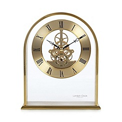London Clock - Gold arch skeleton mantel clock