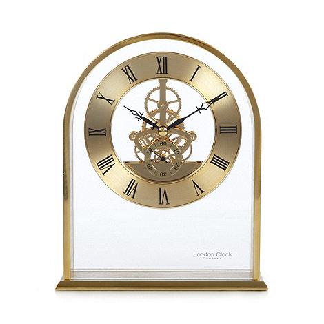 london clock gold arch skeleton mantel clock - Mantel Clock