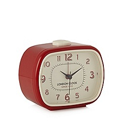 London Clock - Red geo alarm clock