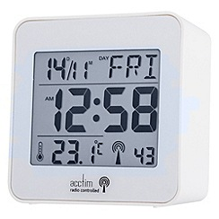 Acctim - Mini white radio controlled alarm clock