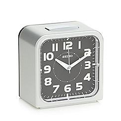 Seiko - Silver square alarm clock