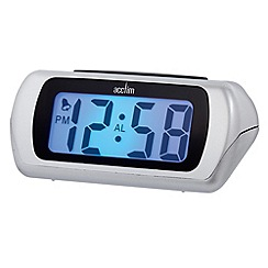 Acctim - Black large LCD alarm clock