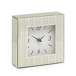 London Clock - Glass glitter lined square mantle clock