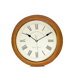 London Clock - Light brown 'English country garden' wall clock