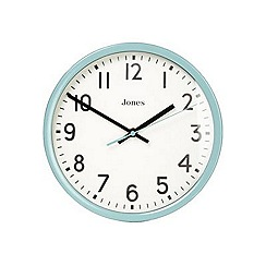 Jones - Teal 'The Collection Home' classic wall clock