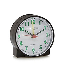 London Clock - Small black travel alarm clock