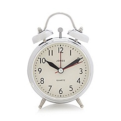 Jones - Chrome twin bell alarm clock