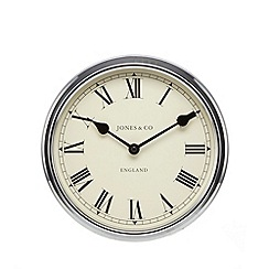 Jones - Piccadilly chrome wall clock