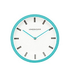 London Clock - Teal pop wall clock