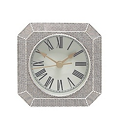 London Clock - Silver pewter finish mantle clock