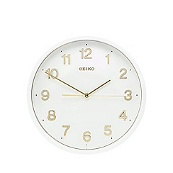 Seiko - White and gold wall clock
