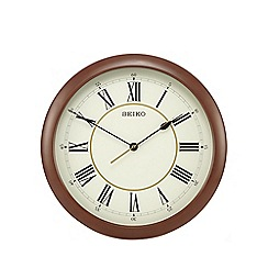 Seiko - Large brown wall clock