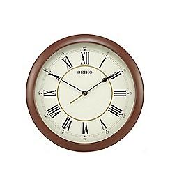 Seiko - Brown wood-effect clock
