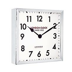London Clock - Large chrome wall clock