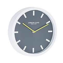 London Clock - White and black 'Pop' wall clock