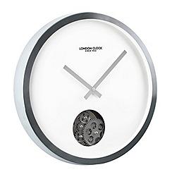 London Clock - Silver cog wall clock