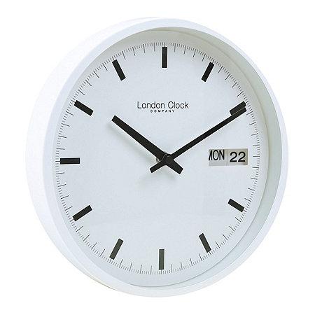 london clock white day and date wall clock debenhams