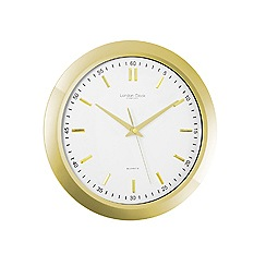 London Clock - Gold 'Urban Luxe' wall clock