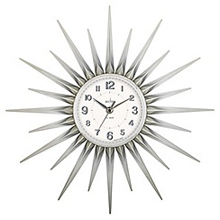 Acctim - Silver 'Stella' wall clock