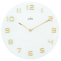 Acctim - Assen - gold and white wall clock