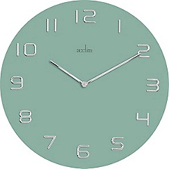 Acctim - Assen - teal and silver wall clock