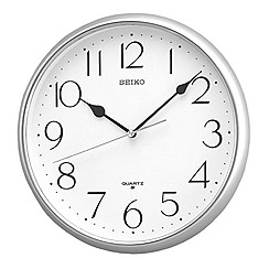 Seiko - Silver shiny wall clock
