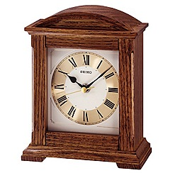 Seiko - Wooden column mantel clock