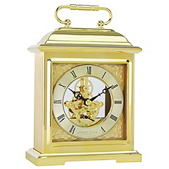 London Clock - Gold skeleton mantel clock