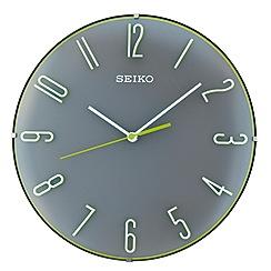 Seiko - Black and green dome wall clock