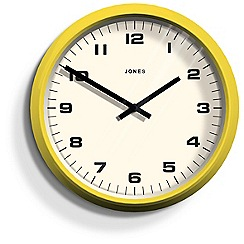 Jones - Yellow 'The Monkey' wall clock