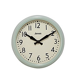 Jones - Blue 'The Apollo' wall clock