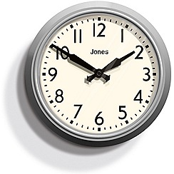 Jones - Grey 'The Apollo' wall clock