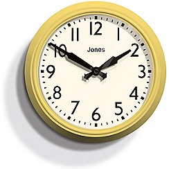 Jones - Yellow 'The Apollo' wall clock