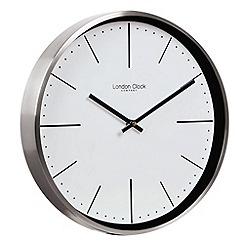 London Clock - Silver chrome cased wall clock