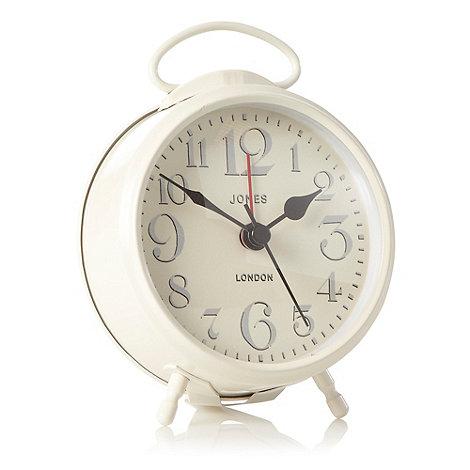 Jones - Metal white +Alpha+ alarm clock