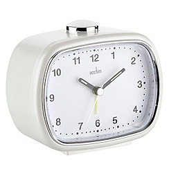 Acctim - White 'Tammi' bell alarm clock