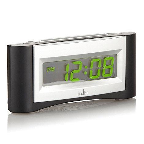 Acctim - Black and green +Alpha+ alarm clock