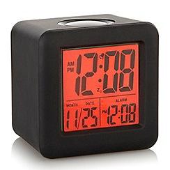 Acctim - Black silicone 'Vanos' alarm clock