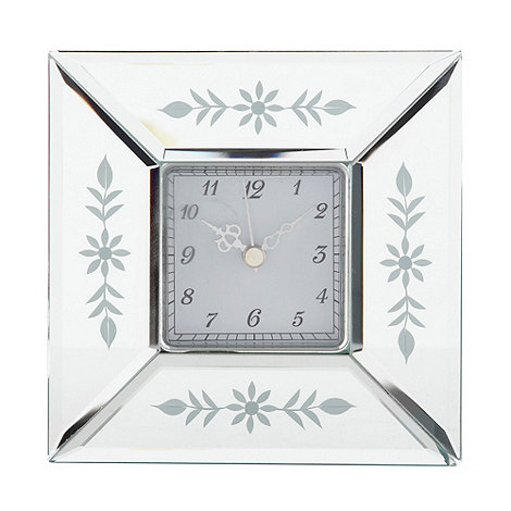 Debenhams - Silver venetian glass mirrored clock