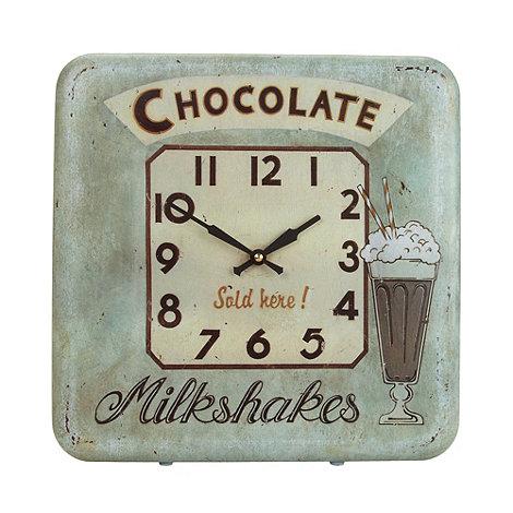 Lascelles - Aqua milkshake poster wall clock