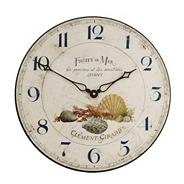 Cream sea shells motif wall clock