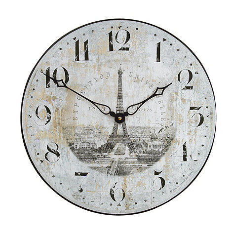 Lascelles - Off white Eiffel Tower wall clock